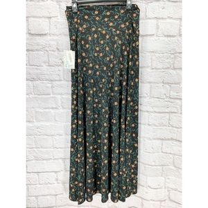 •Lularoe• Black Floral Maxi Skirt Long New Plus